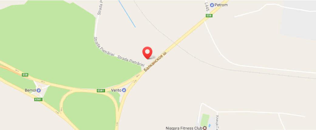 Карта проезда к фирме Boricom
