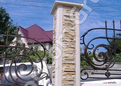 Забор из натурального камня